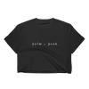 Black Palm & Peak Crop Top