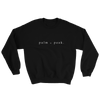 Black Palm & Peak Heavy Crewneck Unisex Sweatshirt