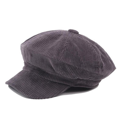 Corduroy Travel Newsboy Cap + 4 Colors