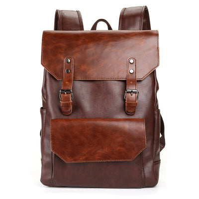Retro PU Leather Travel Backpack + 2 Colors