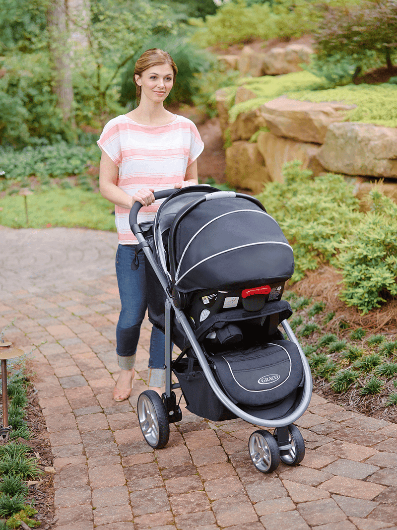 Graco Aire3 Click Connect Travel System Stroller, Gotham - fashionstuff123