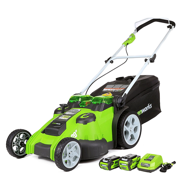 Greenworks 25302 20-Inch 40V 4.0 AH & 2.0 AH Battery Twin Force Cordless Lawn Mower - fashionstuff123