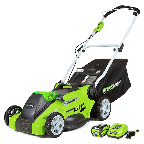 Greenworks 25322 16-Inch 40V 4.0 AH Battery Cordless Lawn Mower - fashionstuff123