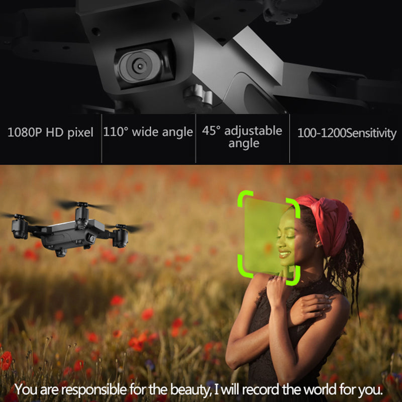 Fairzones Drone with Camera 1080p, 5G Wifi FPV GPS Auto Return Wide-Angle Camera, HD142 RC Quadcopter for Adults Beginners, Follow Me Model - fashionstuff123