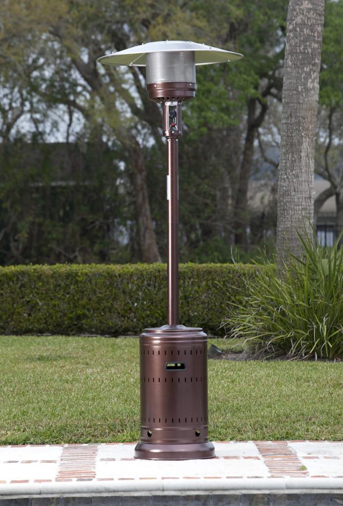 Fire Sense Hammer Tone Bronze 46,000 BTU Commercial Patio Heater - fashionstuff123