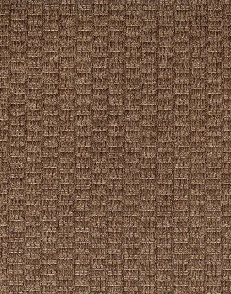 Gertmenian Brown Jordan Barnwell Collection Woven Textural Modern Outdoor Patio Rugs, Nut Brown - fashionstuff123
