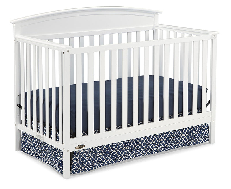 Graco Benton 5-in-1 Convertible Crib, White - fashionstuff123