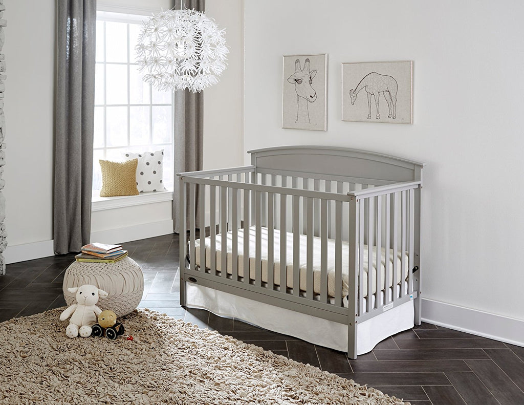 Graco Benton 5-in-1 Convertible Crib, Pebble Gray - fashionstuff123