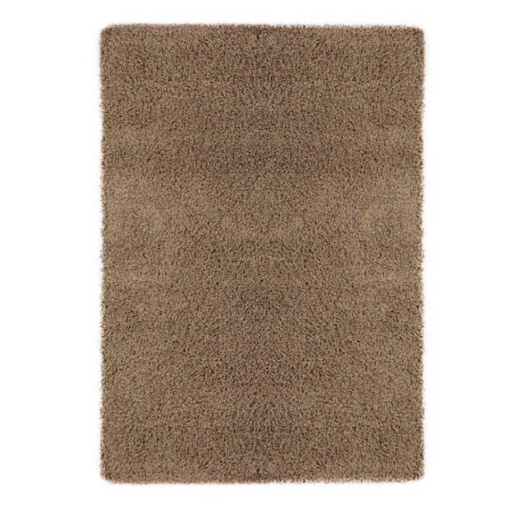 Ottomanson Contemporary Living and Bedroom Soft Shag Area Rug Indoor Rug, Beige - fashionstuff123