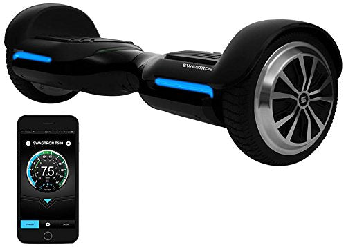 Swagtron T580 iPhone/Android App-Enabled with Bluetooth Speaker Smart  Self-Balancing Hoverboard