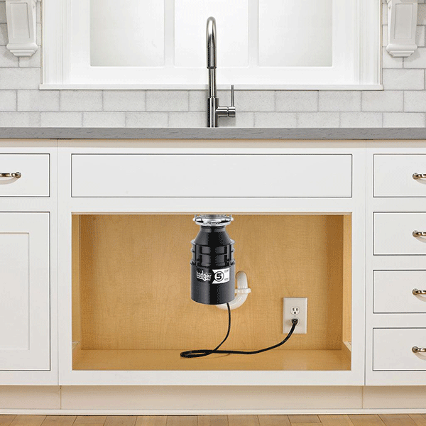 InSinkErator Badger 5XP 3/4 HP Continuous Feed Garbage Disposal with Power Cord - fashionstuff123