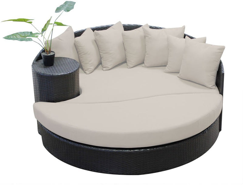 TK Classics Newport Circular Sun Bed with Cushions Patio Furniture - fashionstuff123