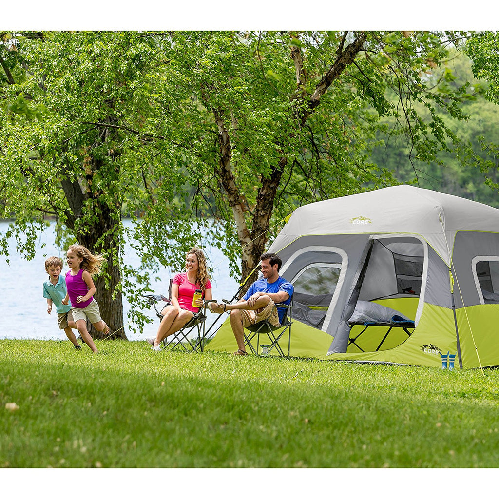 CORE  6 Person Instant Cabin Tent, 11' x 9' - fashionstuff123