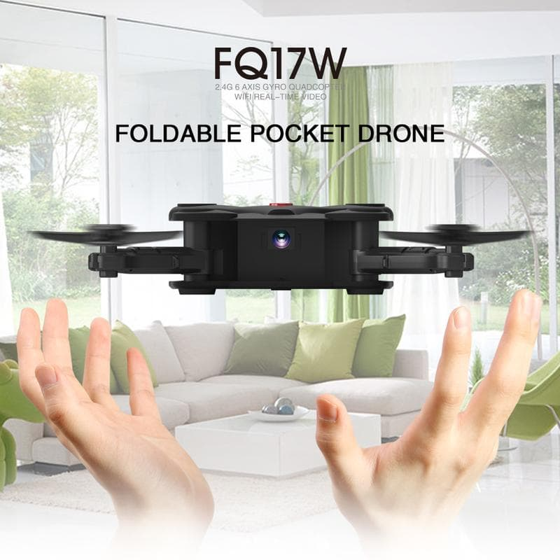 FQ777 FQ17W RC Helicopter 4 Axis Folding FPV mini Drone Pocket Quadcopter Kids Drones with Camera - fashionstuff123
