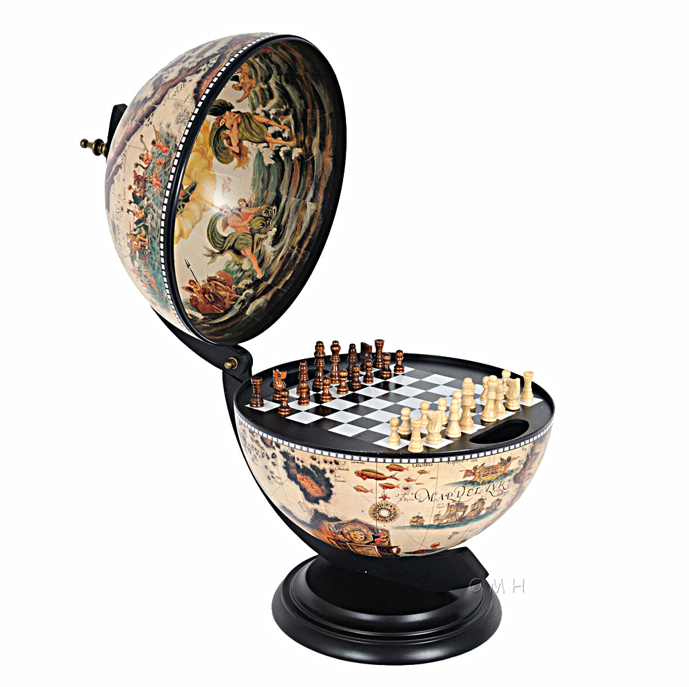 Old Modern Handicrafts NG015 White Globe with chess holder - fashionstuff123
