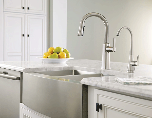 Moen S5520 Chrome Sip Transitional One-Handle High Arc Beverage Faucet - fashionstuff123