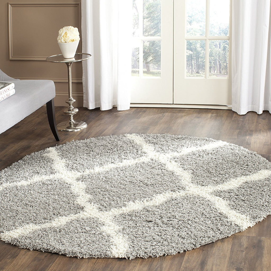 Safavieh SGD257G Dallas Shag Area Rug, Grey and Ivory - fashionstuff123