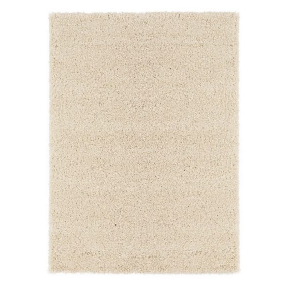Ottomanson Contemporary Living and Bedroom Soft Shag Area Rug Indoor Rug, Ivory - fashionstuff123