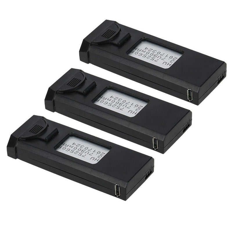 Original Visuo 3PCS 3.7V 900mAh Rechargeable Lipo Battery Accessory for XS809 XS809W Series - fashionstuff123