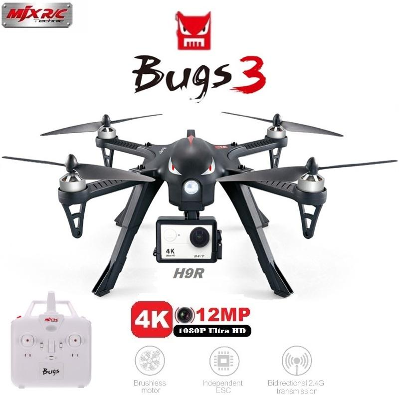 MJX Bugs 3 B3 RC Quadcopter 2.4G 6-Axis Gyro Drone With H9R 4K Camera Professional Drone Helicopter - fashionstuff123