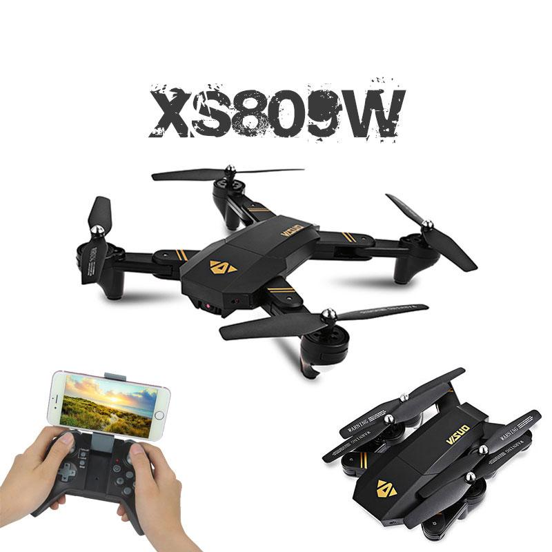 Visuo XS809W XS809HW Mini Foldable Selfie Drone Wifi FPV 0.3MP/2MP Camera Kids Drone - fashionstuff123