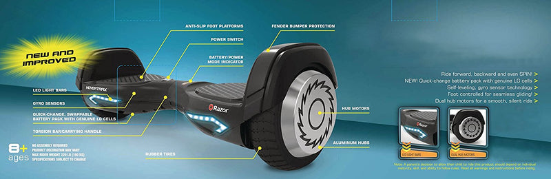 Razor Hovertrax 2.0 Hoverboard Self-Balancing Smart Scooter - fashionstuff123