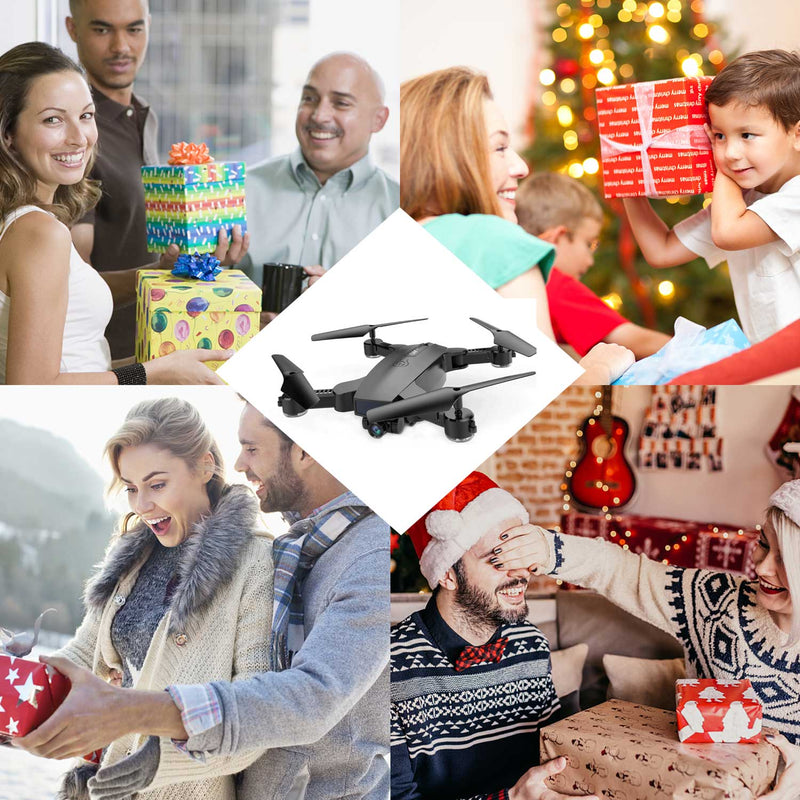 SMRC S6 RC Mini Kids Drone with Camera WiFi FPV Selfie Drone Auto Follow Me Tracking & Two Lenses Switch - fashionstuff123
