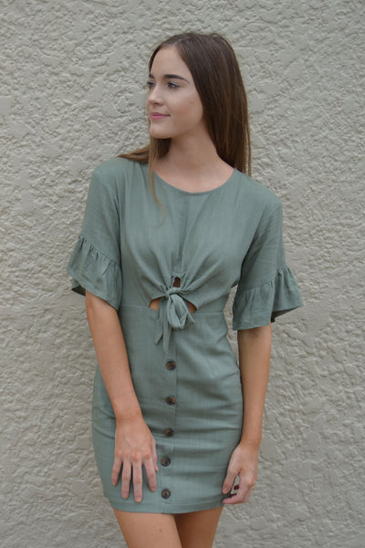 Fresco Khaki Dress