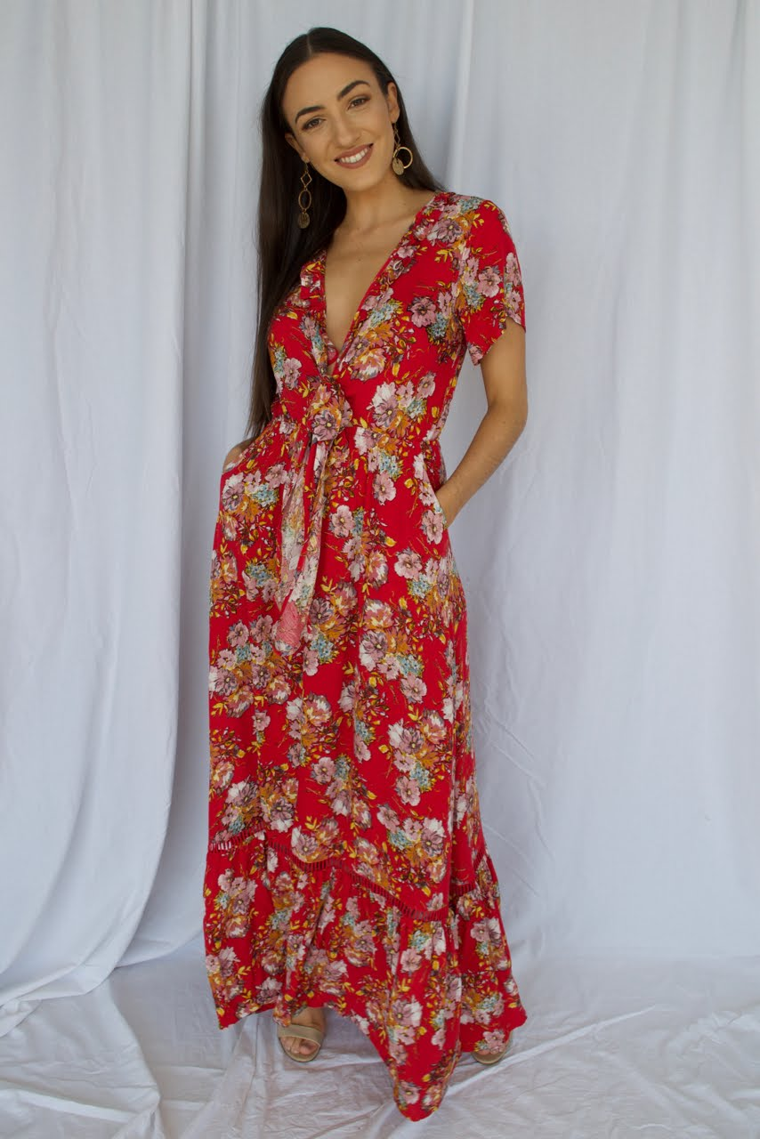 Tuscany Calling Floral Maxi