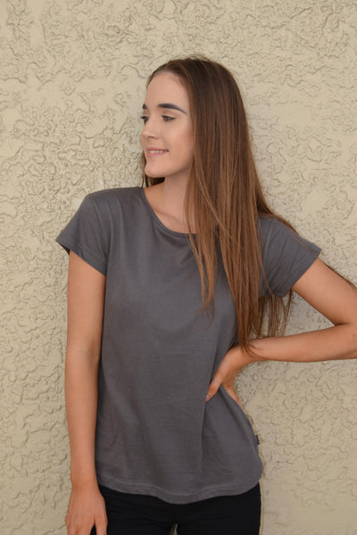 Polly Tee Charcoal