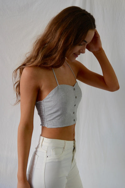 Chloe Check Crop Top