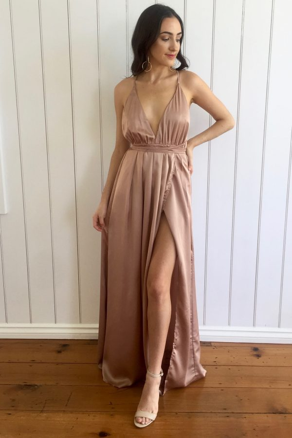 unbeatable maxi dress gold