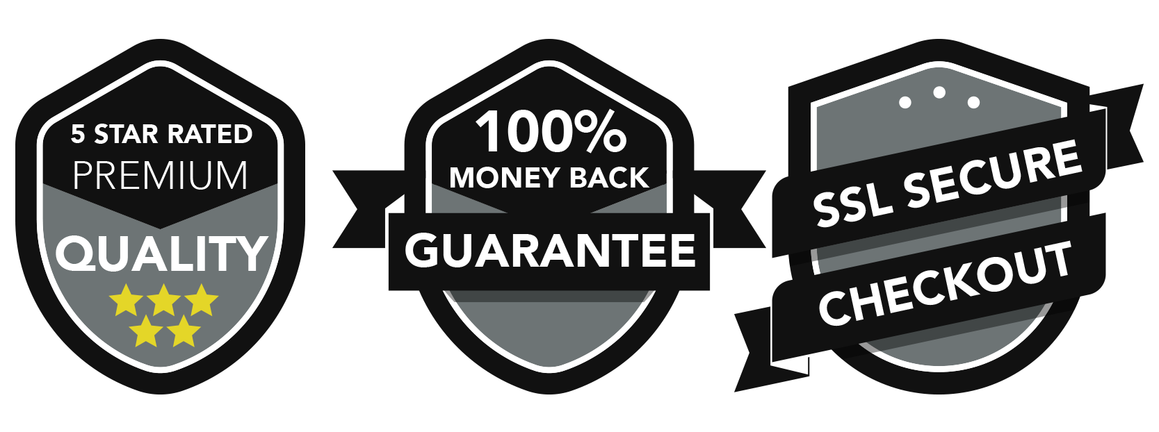 5 Star Rated Quality, Money Back Guarantee, SSL Secure Checkout