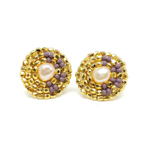 24K Gold Plated Freshwater Pearl Earrings