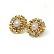 Iridescent 24K Gold Plated Freshwater Pearl Earrings