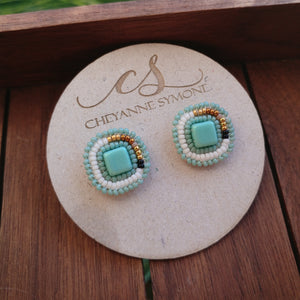 Aqua Stud Earrings