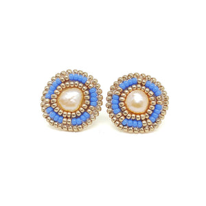 Periwinkle Freshwater Pearl Stud Earrings