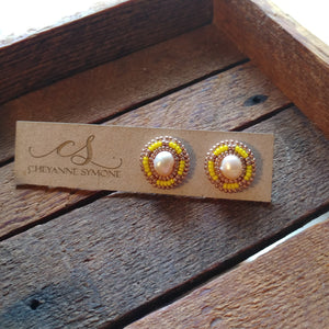 Sunshine Freshwater Pearl Stud Earrings