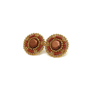 Terra Cotta Stud Earrings