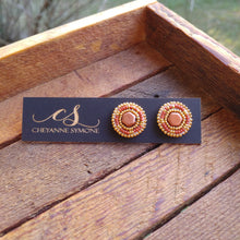 Terra Cotta studs in reclaimed wooden box