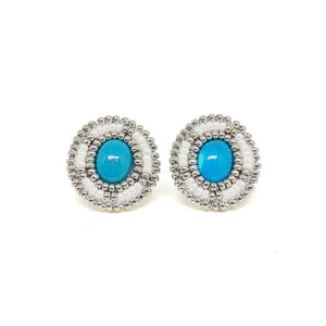 Oval Turquoise Stud Earrings