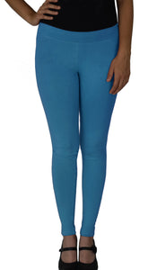 Cotton Spandex, Stretchable, 28in Inseam Regular Length Full Leggings