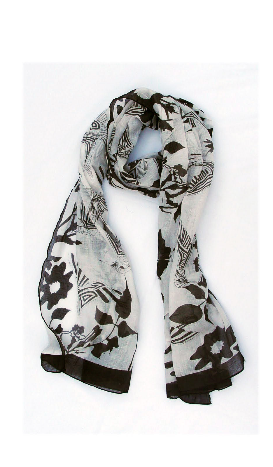 Hummingbird Soft Cotton Printed Scarf