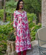 Aira Printed Pure Soft Cotton Tiered Long Tunic Kurta Dress: Regular and Plus Sizes: Made to Order/Customizable
