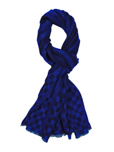Pure Cashmere Scarf/Wrap in Checks Pattern