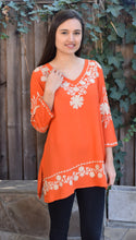 Nia Rayon Crepe Embroidered Tunic