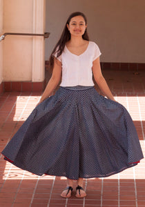 Fab Block Print Pure Cotton Multi Panel Flare Skirt