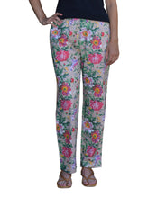 Zoe Floral Printed Pure Cotton Pajama Pants with Pockets