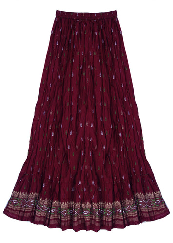 Anu Block Print Pure Cotton Skirt