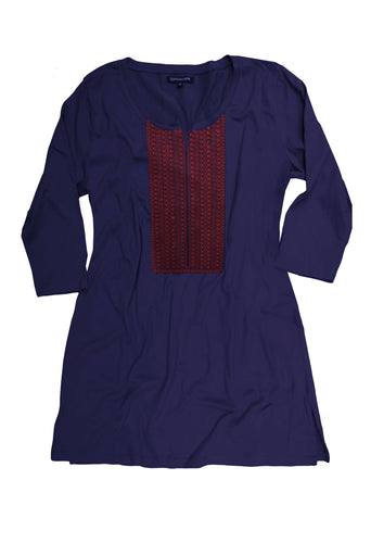 ISHA Embroidered Pure Cotton Jersey Tunic